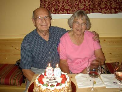 Rupert Neve con su esposa Evelyn