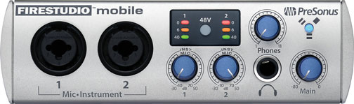 Interfaz Presonus Firestudio Mobile