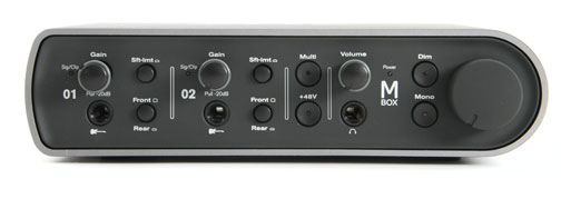 Interfaz de la marca Avid modelo MBox