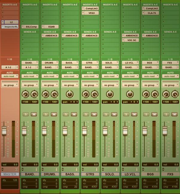 Secretos de mezcla: Subgrupos y el Master fader