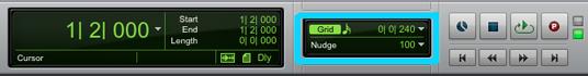 Vista modo grid Pro tools