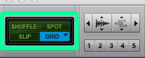 Selección grid pro tools