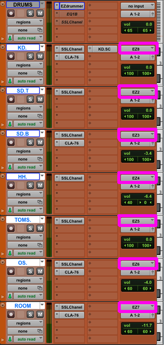 EZ drummer multipista pro tools
