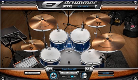 Ejemplo de set de batería ez drummer