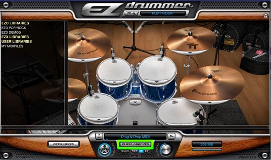 Abrir librería de ritmos en ez drummer