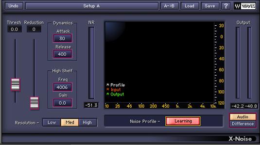 Creando perfil de ruido x noise