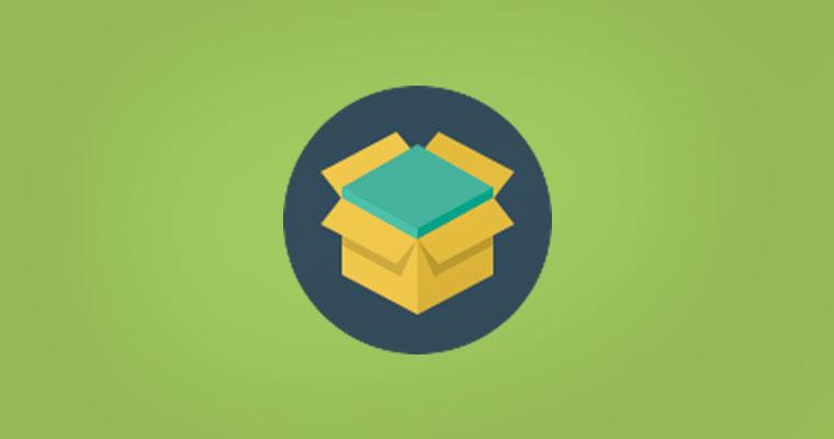 Mezcla OTB: Imágen del ícono de una caja abierta