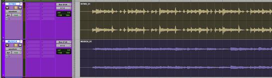 Separar ritmo y musica en la compilación
