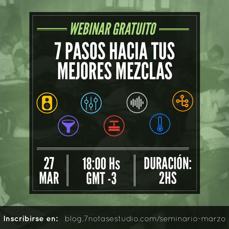 Segunda edición del seminario de mezcla: Viernes 27 de Marzo