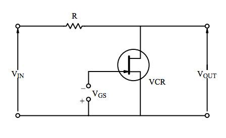 Circuito de atenuación con un JFET