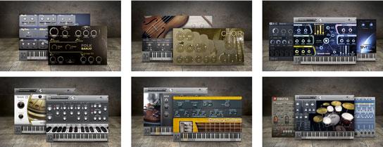 Instrumentos virtuales Samplitude Music studio