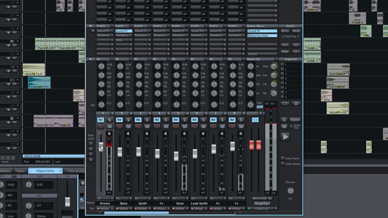 Ventana de mezcla Samplitude Music Studio