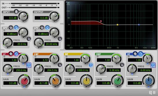 Ecualización aditiva en las bajas frecuencias, usando una curva shelving de bajos.