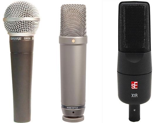 Ejemplos micrófonos home studio